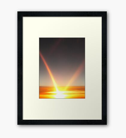 Sunset on the Plane II Framed Print