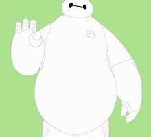 Easter Bunny Baymax Waving by Ztw1217