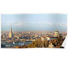 Turin (Torino), panorama at sunset Poster