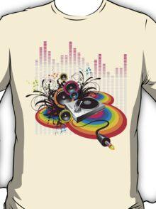 Vinyl Record Music Collage T-Shirt