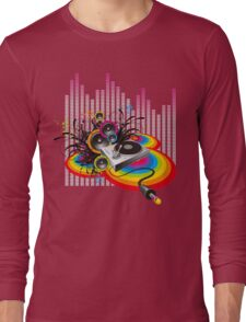 Vinyl Record Music Collage Long Sleeve T-Shirt