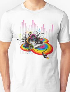 Vinyl Record Music Collage T-Shirt
