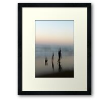 Beach Impressions - Walk This Way Framed Print