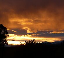Sunset over High Country by Victoria Crafar