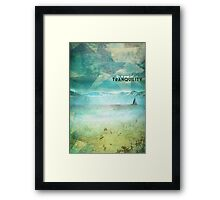 In a sea of tranquility Framed Print