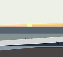 Ocean Sunset in Makaha Hawaii by PatinoDesign