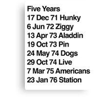Hunky Ziggy Aladdin Pin Dogs Live Americans Station Canvas Print