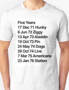 Hunky Ziggy Aladdin Pin Dogs Live Americans Station Unisex T-Shirt
