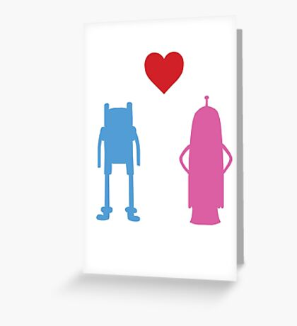 Adventure Time Finn & Princess Bubblegum  Greeting Card