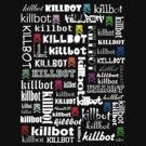 Killtext for dark shirts by KillbotClothing