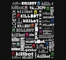 Killtext for dark shirts by KillbotClothing