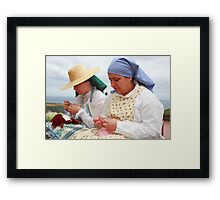 Azorean craftswomen Framed Print