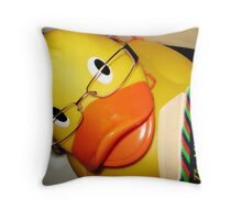 Geeky Ducky Throw Pillow