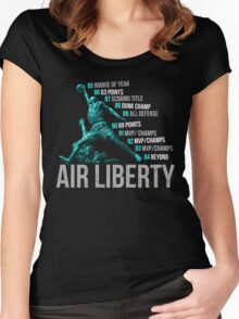 Lady Liberty 10 Women's Fitted Scoop T-Shirt