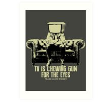 TV Is Chewing Gum For The Eyes Couch Architecture t shirt Art Print
