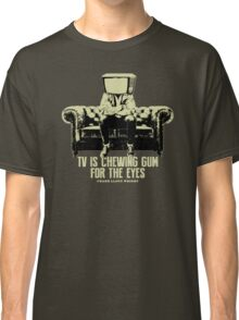 TV Is Chewing Gum For The Eyes Couch Architecture t shirt Classic T-Shirt