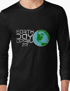 Earth Day April 22 Grunge Look Long Sleeve T-Shirt
