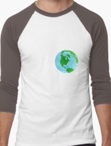 Earth Day April 22 Grunge Look Men's Baseball ¾ T-Shirt