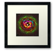 'Light Flame Abstract 213' Framed Print