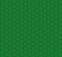 POSTER; 16x20 HEXES Blacklines on GREEN. Black numbers by Radwulf