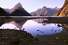 Milford Sound Sunset, South Island, New Zealand by Michael Boniwell