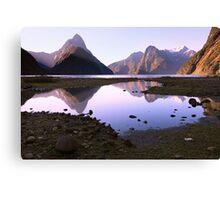 Milford Sound Sunset, South Island, New Zealand Canvas Print