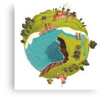 Planet Town Canvas Print