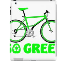Go Green Bicycle Recycle Design iPad Case/Skin