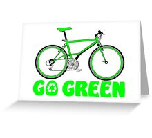 Go Green Bicycle Recycle Design Greeting Card