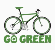 Go Green Bicycle Recycle Design Kids Clothes