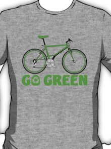 Go Green Bicycle Recycle Design T-Shirt