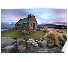 Church of the Good Shepherd, Lake Tekapo, New Zealand Poster