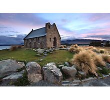 Church of the Good Shepherd, Lake Tekapo, New Zealand Photographic Print