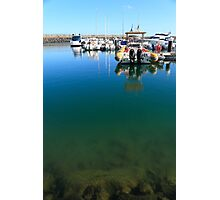 Tranquility at the marina Photographic Print