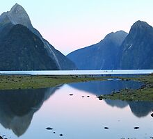 Milford Sound Dawn, South Island, New Zealand by Michael Boniwell
