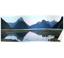 Milford Sound Dawn, South Island, New Zealand Poster
