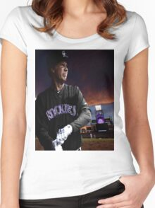Will Ferrell Colorado Rockies Women's Fitted Scoop T-Shirt