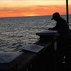 Silhoutte Fisherman by alanbrito