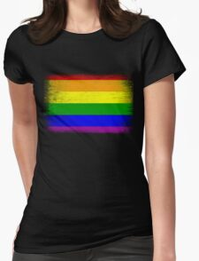 Grunge Rainbow Diversity Flag Womens Fitted T-Shirt