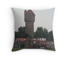 Velsen Zuid, Holland Water Tower Throw Pillow