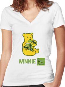 Winnie Plutonium Women's Fitted V-Neck T-Shirt
