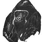 black gorilla  by paula cattermole artinapuddle