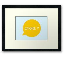 OTOKE  - GOLD Framed Print