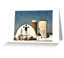 Wisconsin Barn with a little PS3 Greeting Card