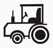 Black comic tractor One Piece - Short Sleeve