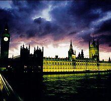 Purple Big Ben by alanbrito