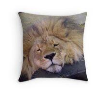 Daddy Lion Throw Pillow