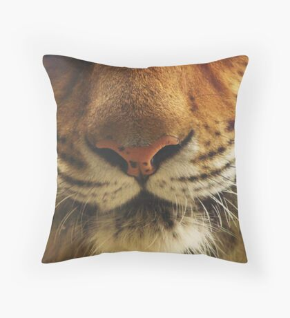 Large Cat 007 Throw Pillow