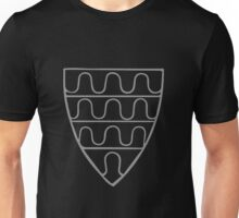 A Complete Guide to Heraldry - Figure 37 — Arms of William de Ferrers, Earl of Derby (d 1247) Scutum variatum auro & gul (From MS Cott Nero, D 1) Unisex T-Shirt