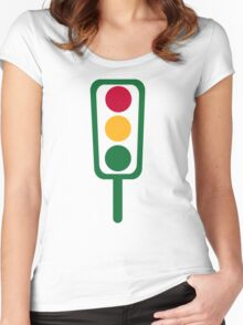 Traffic light Women's Fitted Scoop T-Shirt